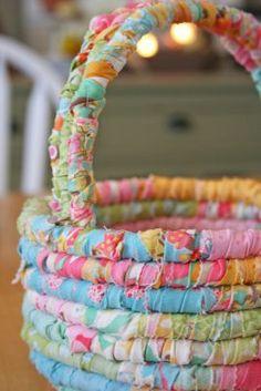 So super cute! Homemade Easter baskets!