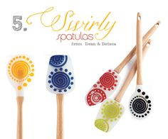 Swirly spatulas