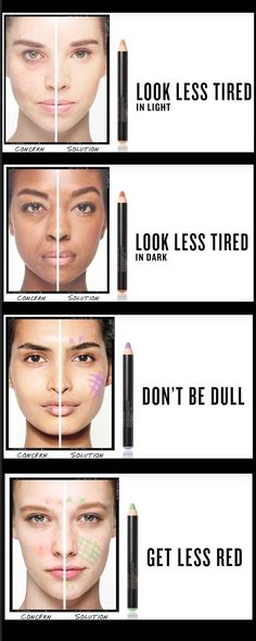 33 Makeup Tips and Tricks To Make You Look Less Tired - Color Correcting 101: Look Less Tired - Eye Bags and Oily Skin? Check Out These Makeup Tips and Tricks to Make You Look Less Tired. Great Tips, Beauty Products and How Tos for All Types of Faces - thegoddess.com/makeup-tips-look-less-tired