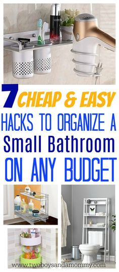 Easy Hacks to Organize a Small Bathroom | Two Boys and a Mommy