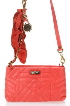 Happy Quilted Leather Shoulder Bag in Rose As one of the most influential designers of the 1920s and 30s, Jeanne Lanvin
