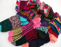 Hand knitted  socks.