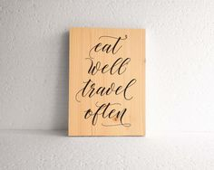 Eat well travel often wall art  Travel quote by InfiniteWallArt