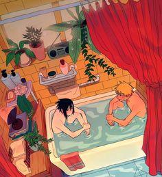 sasunaru Naruto Vs Sasuke, Anime Naruto, Naruto Funny, Naruto Shippuden Anime, Naruto Art, Otaku Anime, Sasunaru, Naruko Uzumaki, Narusasu