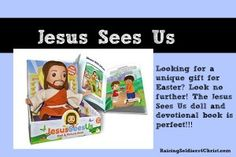 Jesus Sees Us Doll and Picture Book - Raising Soldiers 4 Christ
