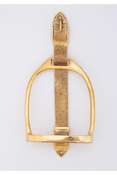 English Stirrup Knocker, $59.00 at HorseCountryCarrot.com.