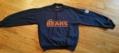 Chicago Bears Football Starter Sweatshirt Pullover Shirt Men's Medium NFL sewn #Starter #ChicagoBears