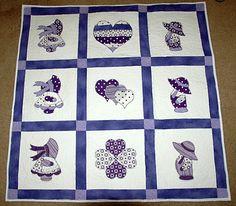 Purple Sunbonnet Sue Quilt.  Peace, Robert from nancysfabrics.com