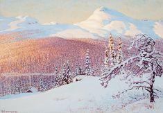 Gustaf Fjaestad 1868-1948  Landscape in winter.