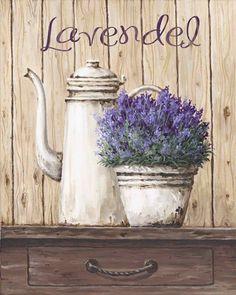 Poster auf Holz 49x39 cm A. S. Lavendel X198799 in Möbel & Wohnen, Dekoration, Bilder & Drucke   eBay