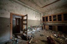 Hospital lab. Abandoned Wheatley-Provident Hospital, Kansas City, MO. Built in 1902, closed in 1972.
