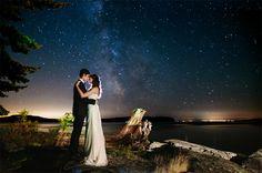 Sunshine Coast Wedding Photographer Rockwater Secret Cove Bride and Groom Milky Way Portrait