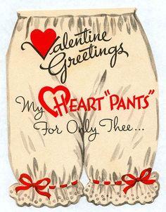 Cute old valentine card