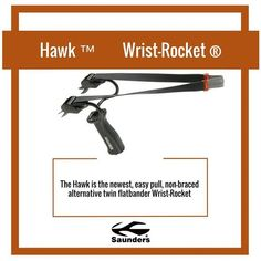 The Hawk boasts the Quick-Snap band replacement system. #flatbands #wristrocket #slingshot