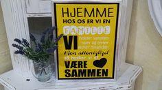 Keilrahmen /Dekobild /dänische Familienregeln /familieregler/pynteskilt/lærred Home Decor, Wedges, Canvas Frame, Creative, Decoration Home, Room Decor, Interior Design, Home Interiors, Interior Decorating