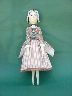 Wooden Peg Doll by Fred T. Laughon