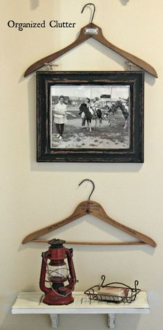 Vintage Clothes Hangers As Wall Decor