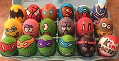 Easter eggs 3 (ninja turtles, spongebob, super heroes)