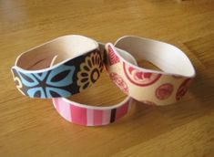 Can you guess what these bracelets are made of?