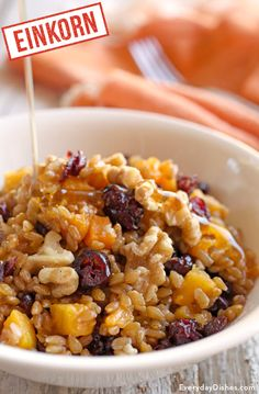 Tired of oatmeal? Our einkorn wheat berry breakfast bowl is a hearty ...