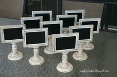 ONE Framed and Doublesided Chalkboard  - Weddings, Buffets, Parties, Craft Shows. $25.00, via Etsy.