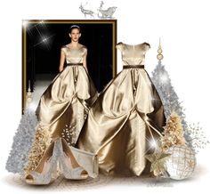 """""""Silver and Gold"""" by archimedes16 ❤ liked on Polyvore"""