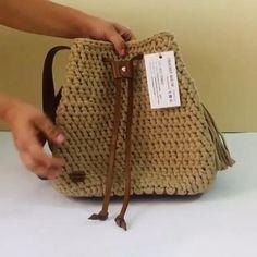 Diy Crochet Bag, Crochet Market Bag, Knit Crochet, Bag Pattern Free, Bag Patterns To Sew, Crochet Patterns Amigurumi, Knitting Patterns, Sewing Patterns, Leather Bag Pattern