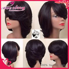 Cheap wig supplies, Buy Quality wig box directly from China wigs realistic Suppliers:    Fashion style bob cut lace wig 1b color unprocessed virgin hair short wig full lace&lace front wig layered bob wi