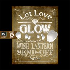 Let your wedding guests know your are doing a wedding sky lantern ...