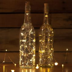 Get 10 Corks with attached LED Light Stings for the price of ONE with lots of colors and sizes to choose from! Now you can turn your empty bottles into a beautiful light source using this awesome Cork LED Light String that is great for yo Wine Bottle Fairy Lights, Wine Bottle Corks, Lighted Wine Bottles, Wine Bottle Crafts, Empty Bottles, Lights In Bottles, Led Bottle Light, Bottle Bottle, Beer Bottles