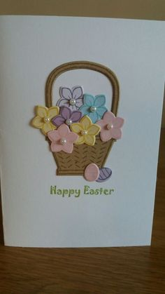 Quick Easter card using Basket Bunch from Stampin Up