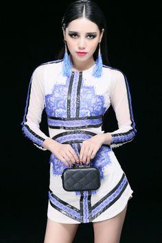 PU Strappy Lace Dress