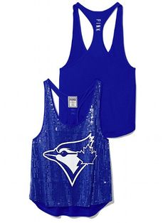 Victoria's Secret PINK Toronto Blue Jays tank top if we ever go to a game I have my outfit picked out lol Toronto Blue Jays, Racerback Tank, Victoria's Secret, Pink Bling, Trendy Outfits, Trendy Clothing, Women Lingerie, Victoria Secret Pink, Athletic Tank Tops