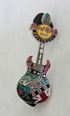 Hard Rock Cafe HOLLYWOOD 80s Punk Guitar Series 2011 LE 300 Lapel Pin $24.95