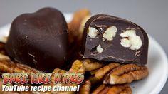 Easy Dark Chocolate Pecan Hearts Recipe By BakeLikeAPro Best Chocolate, Chocolate Recipes, Chocolate Decorations, Best Food Ever, My Recipes, Pecan, Food Videos, Food Processor Recipes