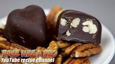 Easy Dark Chocolate Pecan Hearts Recipe By BakeLikeAPro