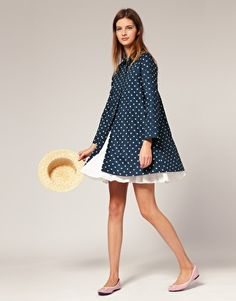 Boutique by Jaeger Trench in Polka Dot Flower Print  $347.45