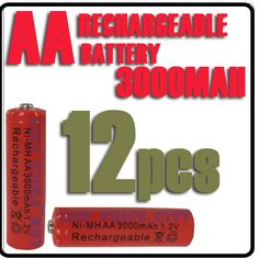 Decent Batteries? 12 3000mAh for $6.84 Shipped.