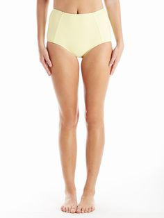 high waist in sunshine #reyswimwear #modestswisuit #highwaistbottoms #yellowswimsuit