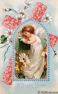 Easter Angel Pink Cross