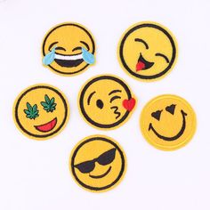 Smile Patch Hot Melt Adhesive Clothing Patch 1pcs Applique Embroidery Blossom DIY Accessories Ultra-low Prices #clothing,#shoes,#jewelry,#women,#men,#hats,#watches,#belts,#fashion,#style