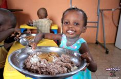 Thanks to Joy given in WeTopia, Madalli (Age 3) and all her friends at the orphanage are enjoying delicious, healthy meals