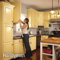 How to Spray Paint Kitchen Cabinets. Instead of spending a ton of money to replace your old kitchen cabinets, make them feel brand new by repainting them.
