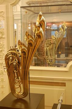 """7-belled horn at Musee des Instruments de Musique / Musical Instrument Museum, Brussels, Belgium,"" by Photo Phiend, via Flickr."