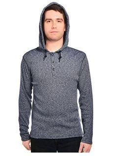 f5c8c04221593 DKNY Mens Hooded Henley Sweater Shirt