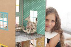 Cardboard Brownstone Doll House   mer mag