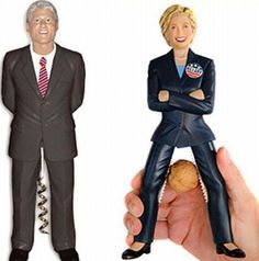 Bill Clinton and Hillary Clinton Starting in Nutcracker  ---- funny pictures hilarious jokes meme humor walmart fails
