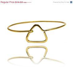 Sale triangle bangle bracelet  gold bracelet by SheBijouPl on Etsy, $11.20