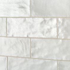 Shop Montauk Fog Gray Ceramic Wall Tiles for a serene coastal feel to any room. Wall only. Iridescent Tile, Ceramic Subway Tile, Backsplash, Glass Tile Bathroom, Brick Backsplash, Ceramic Wall Tiles, Wall Tiles, Brick Backsplash Kitchen, Iridescent Tile Backsplash