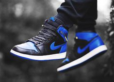 Nike Air Jordan 1 Retro High - Black/Royal Blue (by sneakerjunkienz)